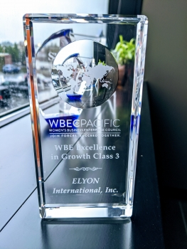 Elyon International Excellence in Growth Award